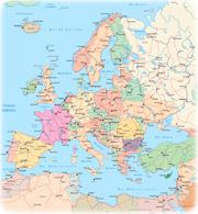 Mapas da europa pases europa mapa politico sciox Image collections