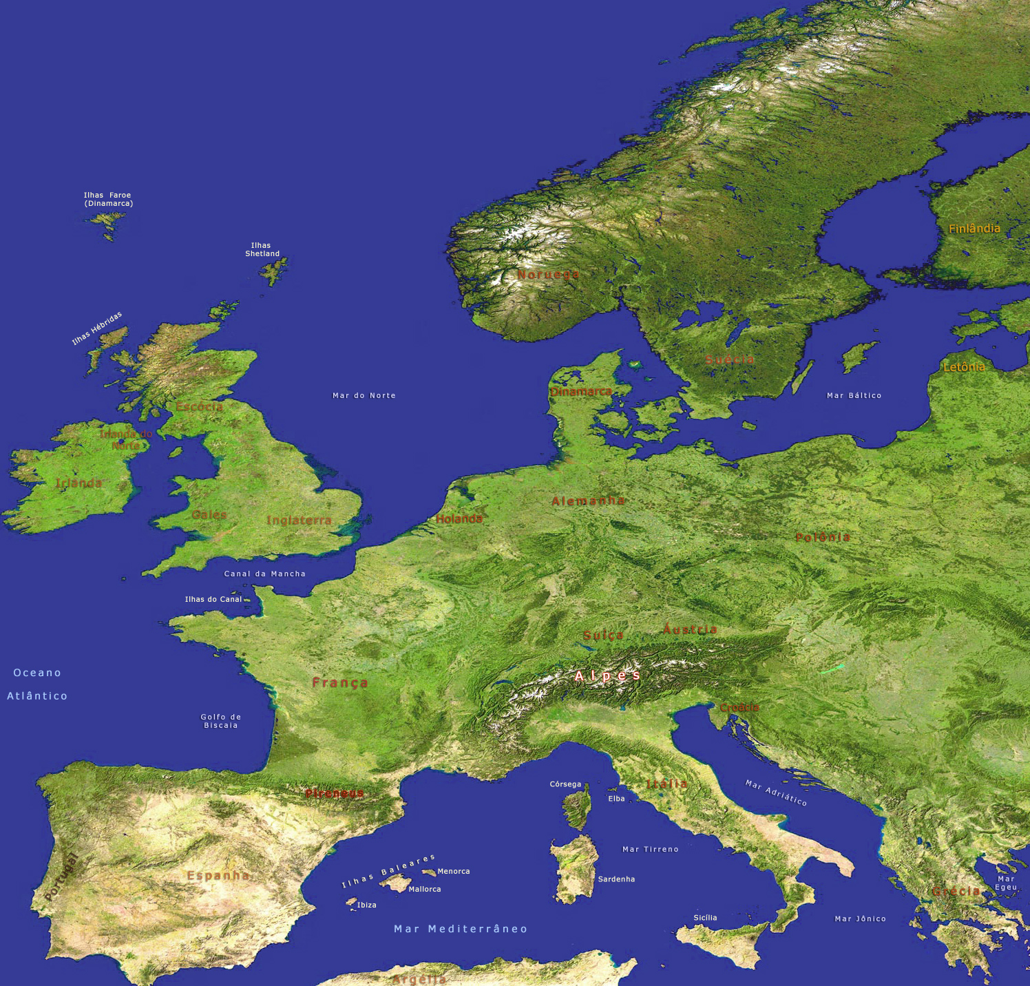 Europa Imagem De Satelite