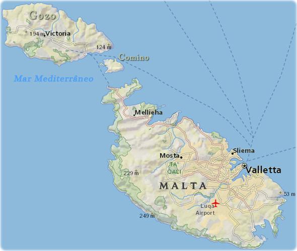 ilha malta mapa Mapas de Malta ilha malta mapa
