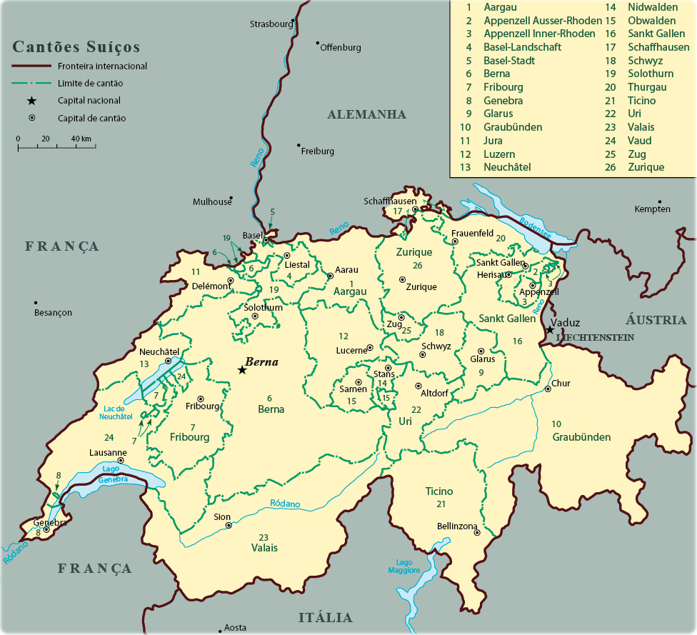 mapa suica Mapa da Suiça mapa suica