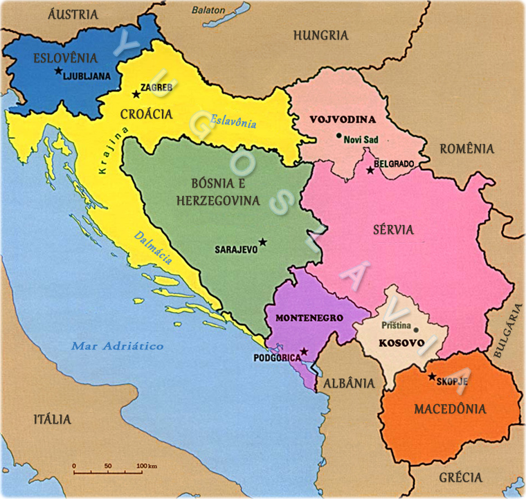 mapa jugoslavia Yugoslávia mapa jugoslavia